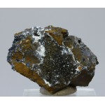 Манганит, кварц, м-ние Куржункуль, Сев. Казахстан, 45х30х30 мм.