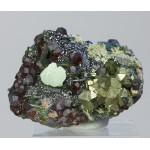 Пренит, андрадит, пирит, эпидот, магнетит, Куржункуль, Сев. Казахстан, 55х40х30 мм.