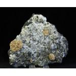 Стеллерит, кальцит, магнетит, м-ние Соколовское, Сев. Казахстан, 125х110х25 мм.