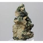 Эпидот, ортоклаз, фторапатит, м-ние Малый Куйбас, Челябинская область, 40х65х30 мм.