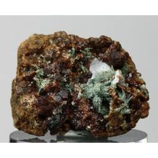 Гроссуляр, диопсид, кальцит, Ахматовская копь, Челябинская область